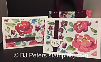 Painted Blooms, BJ Peters, Stampin' Up!, Notecards