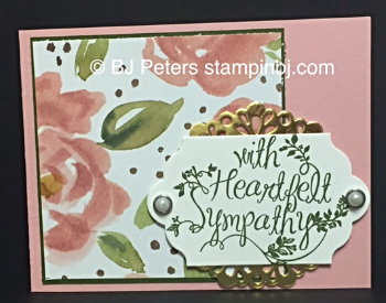 Heartfelt Sympathy, English Garden class, Stampin' Up!, BJ Peters