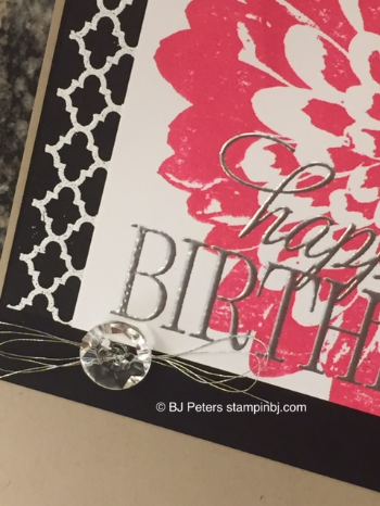 Definitely Dahlias, Summer Silhouettes, Stampin' Up!, BJ Peters