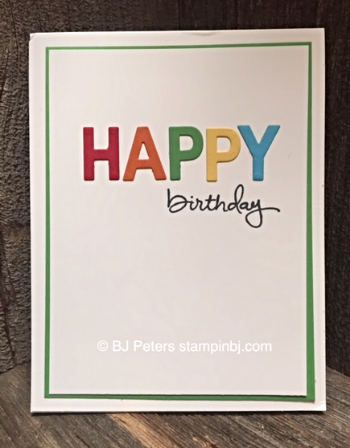 Endless Birthday Wishes, Stampin' up!, BJ Peters, Little Letters Thinlits