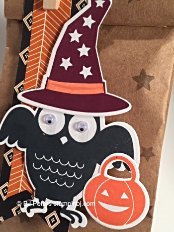 Howl-o-Ween Treat, Boo to You framelits, Stampin' Up!, BJ Peters, Gift Bag, Candy Treat
