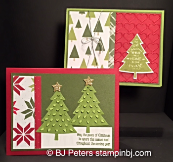 Peaceful Pines, Perfect Pines, Blog Hop, Stampin' Up!, BJ Peters, Class in the mail