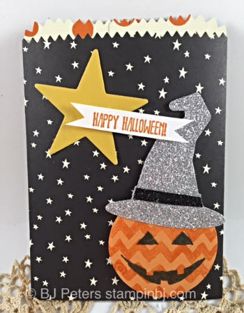 Sparkly Seasons, Boo to You framelits, Mini Treat Bag Thinlit, Stampin' Up!, BJ Peters