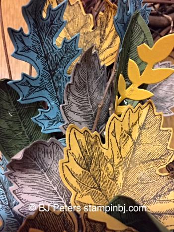 Vintage Leaves, Leaflets framelits, Bouquet Bigz die, Stampin' up!, BJ Peters