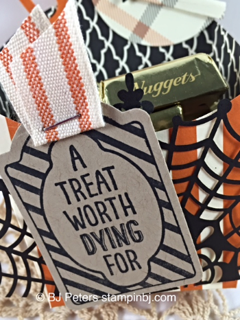 Sweet Hauntings, Happy Haunting DSP, Spider Web doily, Fry Box, Candy Treat, BJ Peters, Stampin' Up!