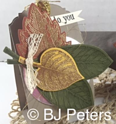 Vintage Leaves, Leaflets framelits, Candy Treat, Stampin' Up!, BJ Peters, Blog Hop
