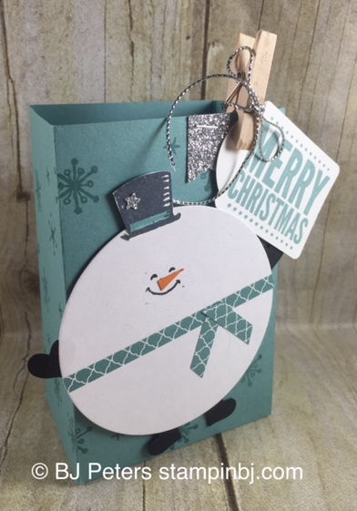 Snow Place. Gift Bag Punch Board, Stampin' Up!, BJ Peters