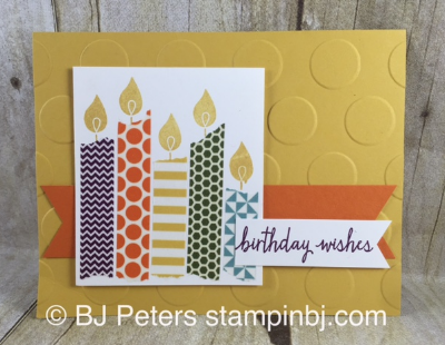 Build a Birthday, Stampin' Up!, BJ Peters