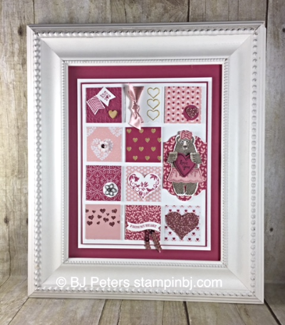 Valentine Frame, Class in the Mail, Stampin' Up!, BJ Peters, Bear Hugs