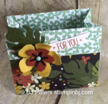 Botanical Garden, Botanical Builder, Botanical Blooms, Stampin' Up!, BJ Peters, 3D, treat box
