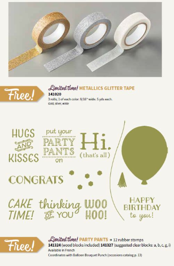 Sale-a-Bration, Stampin' Up!, BJ Peters, Metallics Glitter Tape, Party Pants
