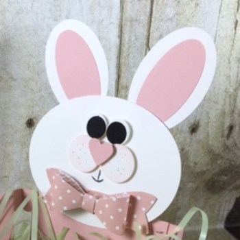 Berry Basket buny, Berry Basket, Punch art, Stampin' Up!, BJ Peters