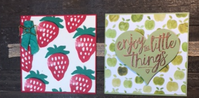 Fresh Fruit, Layering Love, Sweet & Sassy, #bjpeters, #stampinbj.com, #freshfruit, #layeringlove