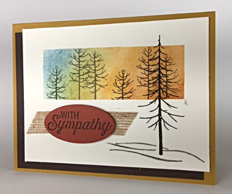 Thoughtful Branches, Ovals Collection, Flourishing Phrases, Stampin' Up!, #thoughtfulbranches, #flourishingphrases, #ovalscollection, #sympathycard, #stampinbj.com, #bjpeters