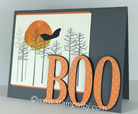 Thoughtful Branches, Swirly Bird, Large Letters, Stampin' Up!, BJ Peters, #thoughtfulbranches, #swirlybird, #largeletters, #stampinup, #halloween, #halloweencard, #bjpeters, #stampinbj.com
