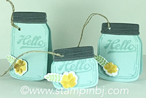 Jar of Love, Gift Tags, Stampin' Up!, BJ Peters