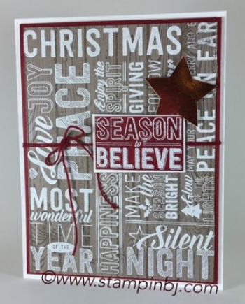 Merry Medley, Stampin' Up!, BJ Peters, #merrymedley, #stampinup, #bjpeters, #stampinbj.com, #christmascard