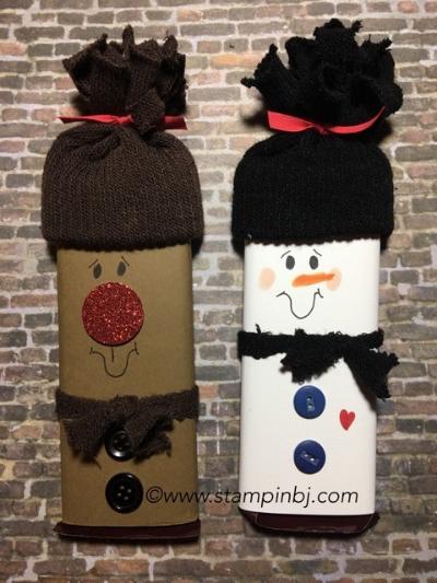 Hershey Snowmen, Stampin' up!, BJ Peters, #craftfair, #stampinup, #bjpeters, #stampinbj.com