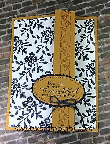 Floral Boutique, Floral Phrases, Stampin' Up!, BJ Peters, #floralphrases, #floralboutique, #stampinup, #bjpeters, #stampinbj.com, #classinthemail, #rubberstamping, #handstampedcards, Stitched Shapes Framelits, #stitchedshapesframelits, #Zfoldcard