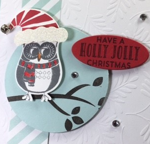 Jolly Friends, Cozy Critters, Stitched with Cheer, Stampin' Up!, BJ Peters, #stitchedwithcheer, #cozycritters, #owlbuilderpunch, #jollyfriends, #stampinup, #stampinbj.com, #bjpeters, #christmascard, #punchart