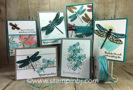 Dragonfly Dreams, Detailed Dragonfly Thinlits, Stampin' Up!, #detaileddragonflythinlits, #dragonflydreams, #stampinup, #stampinbj.com, #bjpeters, #classinthemail, #handstampedcards, #techniquecards, #rubberstamping,
