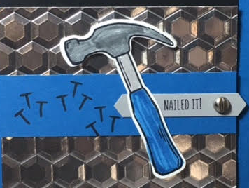 Nailed it, Build it framelits, Urban Underground embellishments, #nailedit, #builditframelits, #hexagondynamictexturedembossingfolder, #masculinecard, #stampinup, #stampinbj.com, #stampinupdemo, #bjpeters, #cardbuffet