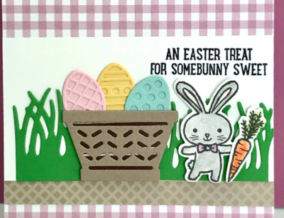 Basket Bunch, Stampin' Up!, #basketbunch, #stampinup, #stampinbj.com, #bjpeters, #eastercard, #easterbunny, #stampinupdemo, #papercrafts, #handstampedcard
