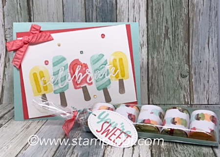 Cool treats, Stampin' Up!, BJ Peters, Frozen Treats, #cooltreats, #frozentreatsframelits, #stampinup, #bjpeters, #stampinbj.com, #tastytreats, #birthdaycard, #papercrafts, #handstamped, #rubberstamping