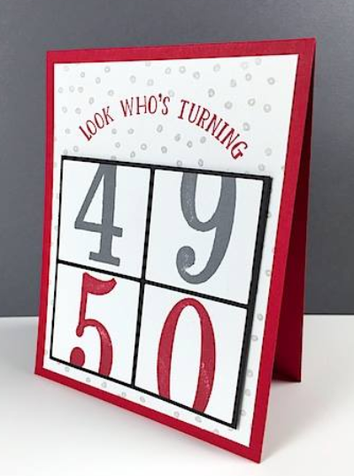 Number of Years, #numerofyears, #stampinup, #stampinbj.com, #bjpters, #birthdaycard, #50birthdaycard, #stampinupdemo, #papercrafting, #rubberstamping, #handstampedcard