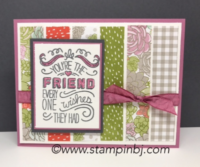 Friendly Wishes, Succulent Garden, #bloghop, #stampinup, #stampinbj.com, #bjpeters, #stampinupdemonstrator, #birthdaycard, #handstampedcard, #cardclassinthemail,