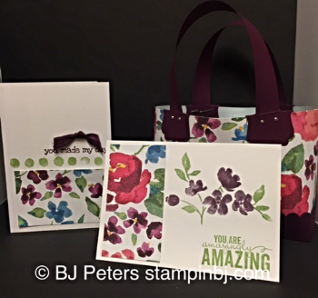 Painted Blooms, Stampin' Up!, BJ Peters, 3D, gift sets