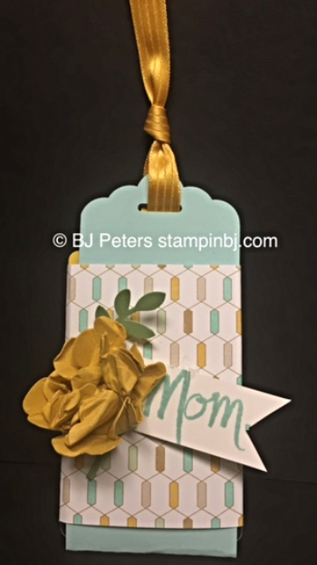 Stampin' Up!, BJ Peters, Gift Card Holder, Scallop Tag Topper