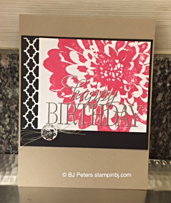 Definately Dahlias, Summer Silhouettes, BJ Peters, Stampin' Up!