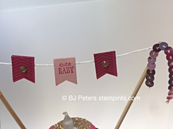 Baby, Banner Banter, Stampin' Up!, BJ Peters, Nugget Cake