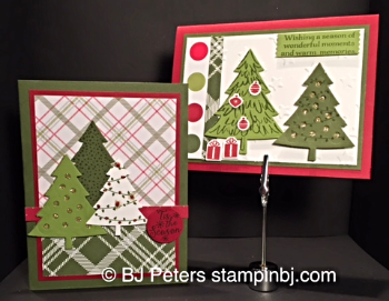 Peaceful Pines, Perfect Pines Framelits, Stampin' Up!, BJ Peters, Blog Hop