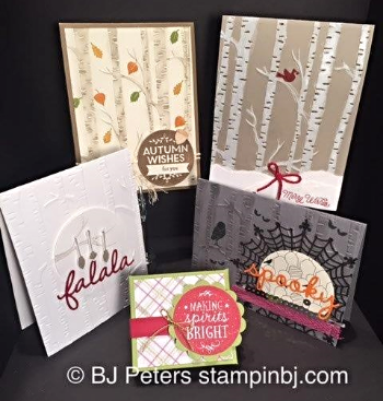 Among the Branches, Woodlands, Stampin' up!, BJ Peters, Class by mail, Holiday catalog