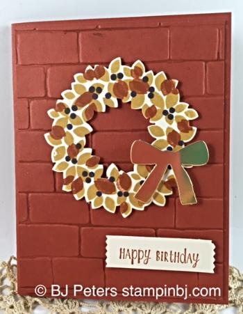 Wondrous Wreath, Stampin' Up!, BJ Peters, Brick Wall