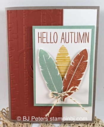 Cheer All Year, Woodlands Embossing folder, Stampin' UP!, BJ Peters