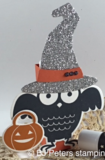 Howl-o-ween Treat, Boo to YOu Framelits, Stampin' Up!, BJ Peters, Halloween treat