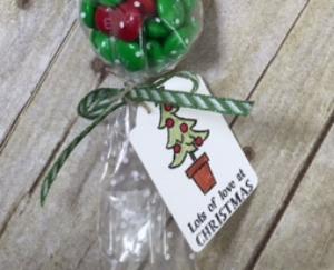Santa's Gifts, POlka Dot Cone Cellophane Bags, BJ Peters, Stampin' Up!