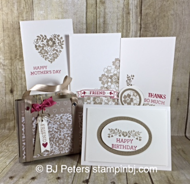 Love Blossom Embellishment kit, Bloomin' Love, Stampin' Up!, BJ Peters