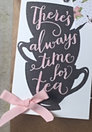 A nice cuppa, petite cafe gift bag, Stampin' Up!, BJ Peters