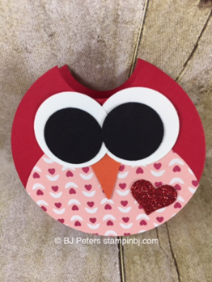 Owl, Candy treat, Love BLossom, Stampin' Up!, BJ Peters