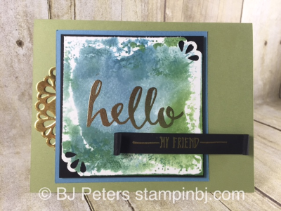 Hello, Sale-a-Bration, Stampin' Up!, BJ Peters