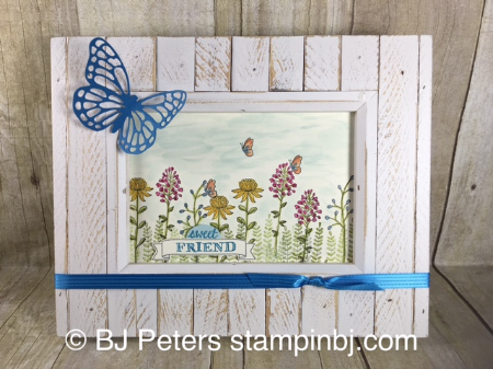 Flowering Fields, Frame, Stampin' up!, BJ Peters