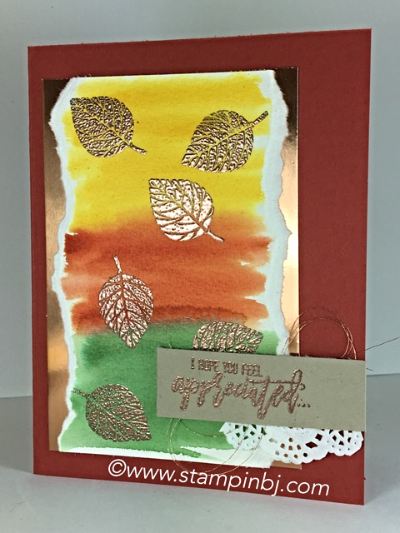 Thoughtful Branches, Copper Foil, Stampin' Up!, BJ Peters, #thoughtfulbranches, #stampinbj.com, #bjpeters, #stampinup.com