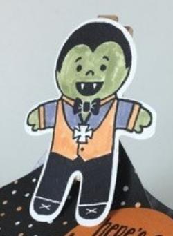 Cookie Cutter Halloween, Spooky Fun, Halloween Treat, #spookyfun, #cookiecutterhalloween, #envelopepunchboard, #halloweennight, #stampinbj.com, #bjpeters