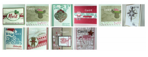Christmas Card Buffet, BJ Peters, #stampinup, #bjpeters, #stampinbj.com, #christmascards