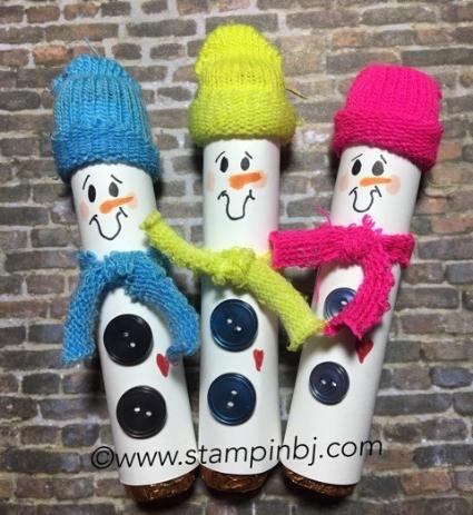 Rolo snowmen, Craft fair, Stampin' Up!, #craftfair, #rolosnowman, #bjpeters, #stampinbj.com