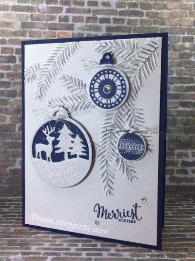 Merriest Wishes, Merry Tag, Stampin' Up!, BJ Peters, #yearendcloseout, #merriestwishes, #merrytagsframelits, #stampinup, #stampinbj.com, #bjpeters, #christmascard, #stampinupsale